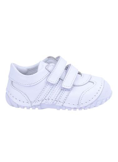 Kiko Kids Kiko Kids Teo 138 %100 Deri Orto pedik Cırtlı Kız Çocuk Ayakkabı Beyaz
